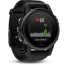 Garmin fenix 5S Zegarek sportowy GPS z czarnym paskiem, saphir